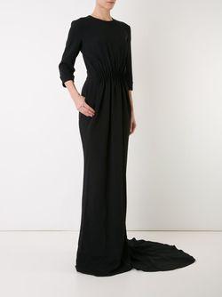 Драпированное Вечернее Платье Stella Mccartney                                                                                                              черный цвет