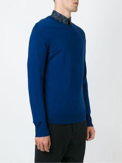 Свитер С Круглым Вырезом PAUL SMITH LONDON                                                                                                              синий цвет
