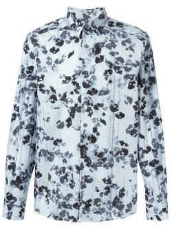 Рубашка С Цветочным Принтом Paul Smith                                                                                                              синий цвет