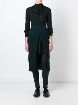 Herringbone Skirt Sacai                                                                                                              зелёный цвет
