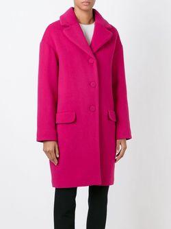 Однобортное Пальто BOUTIQUE MOSCHINO                                                                                                              розовый цвет