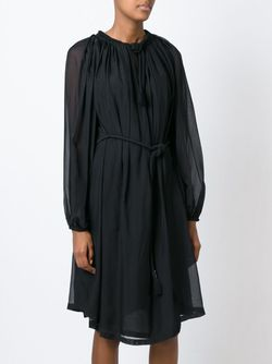 Платье С Прозрачными Рукавами Lanvin                                                                                                              черный цвет