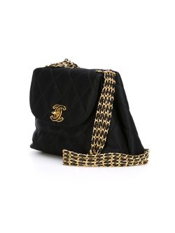 Small Quilted Crossbody Bag Chanel Vintage                                                                                                              чёрный цвет