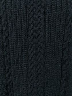 Cable Knit Detail Sweater Alice + Olivia                                                                                                              чёрный цвет