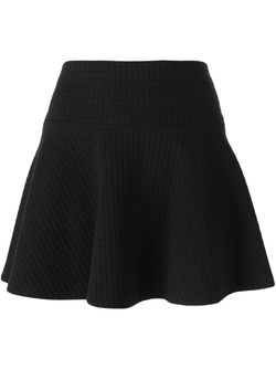 Godet Hem Mini Skirt Alice + Olivia                                                                                                              чёрный цвет
