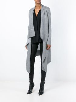 Long Draped Cardigan Alice + Olivia                                                                                                              серый цвет