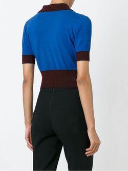 Укороченное Поло Saint Laurent                                                                                                              синий цвет