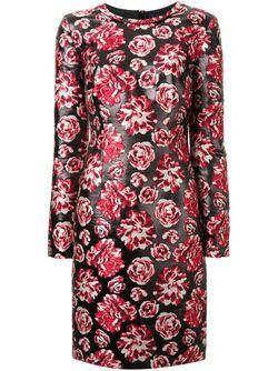 Платье С Цветочным Принтом Lanvin                                                                                                              чёрный цвет