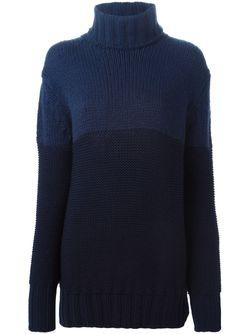 Свитер Колор-Блок Rochas                                                                                                              синий цвет