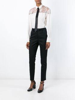 Рубашка С Кружевным Нагрудником Rochas                                                                                                              белый цвет
