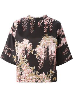 Свободный Топ С Цветочным Принтом Rochas                                                                                                              черный цвет