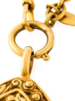 Chinoiserie Pendant Necklace Chanel Vintage                                                                                                              серебристый цвет