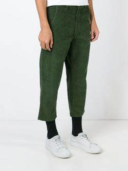 Cropped Corduroy Trousers SOCIETE ANONYME                                                                                                              зелёный цвет