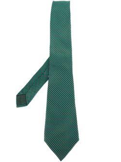 Polka Dot Print Tie Hermès Vintage                                                                                                              зелёный цвет