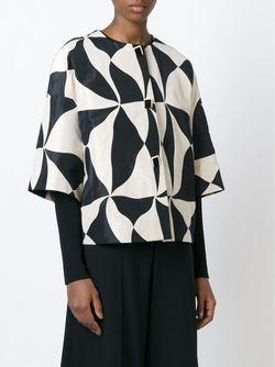 Свободная Куртка С Геометрическим Принтом ERIKA CAVALLINI SEMICOUTURE                                                                                                              Nude & Neutrals цвет