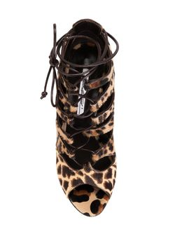 Босоножки Lea С Леопардовым Принтом Brian Atwood                                                                                                              Nude & Neutrals цвет