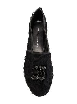 Embellished Espadrilles Ermanno Scervino                                                                                                              чёрный цвет
