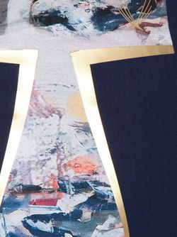 Укороченный Топ С Принтом Lucas Hugh                                                                                                              синий цвет