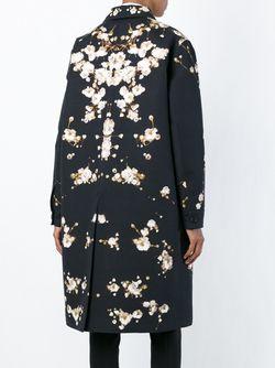 Пальто С Цветочным Принтом Givenchy                                                                                                              черный цвет