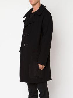Двубортное Пальто GREG LAUREN                                                                                                              черный цвет