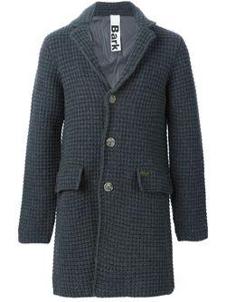 Однобортное Вязаное Пальто Bark                                                                                                              серый цвет