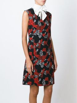 Платье-Шифт С Цветочным Принтом Giambattista Valli                                                                                                              чёрный цвет