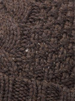 Шапка С Узором Косичка Umit Benan                                                                                                              коричневый цвет