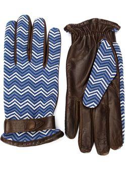 Перчатки С Узором Шеврон ORLEY                                                                                                              коричневый цвет