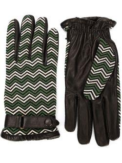 Перчатки С Узором Шеврон ORLEY                                                                                                              черный цвет