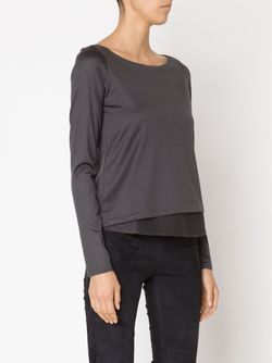 Layered Longsleeved Top Dorothee Schumacher                                                                                                              серый цвет