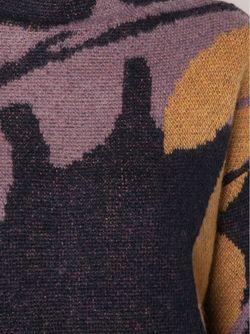 Свитер С Цветочным Узором Интарсией Dorothee Schumacher                                                                                                              синий цвет