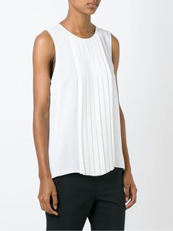 Pleated Front Top Michael Michael Kors                                                                                                              белый цвет