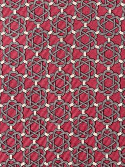 Quatrefoil Print Tie Hermès Vintage                                                                                                              розовый цвет