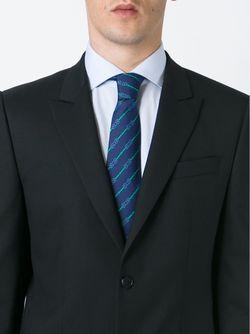 Striped Print Tie Hermès Vintage                                                                                                              синий цвет