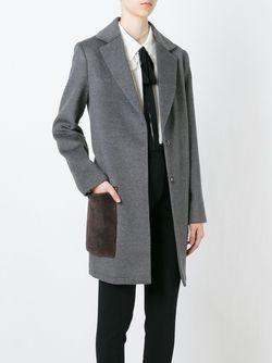Пальто С Контрастными Карманами Steffen Schraut                                                                                                              серый цвет