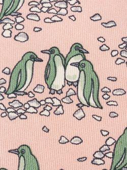 Галстук С Принтом Пингвинов Hermès Vintage                                                                                                              розовый цвет