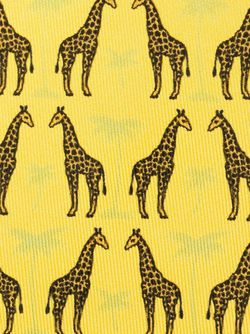 Giraffe Print Tie Hermès Vintage                                                                                                              желтый цвет