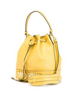Logo Bucket Tote Moschino                                                                                                              желтый цвет