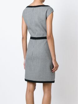 Houndstooth A-Line Dress BOUTIQUE MOSCHINO                                                                                                              белый цвет
