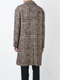 Prince Of Wales Check Coat Ami Alexandre Mattiussi                                                                                                              коричневый цвет