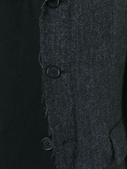 Блейзер В Стиле Пэчворк Yohji Yamamoto                                                                                                              чёрный цвет