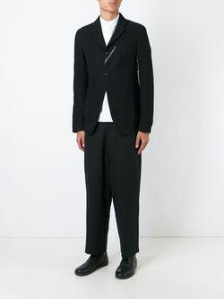 Пиджак С Отделкой В Виде Клейкой Ленты Yohji Yamamoto                                                                                                              чёрный цвет