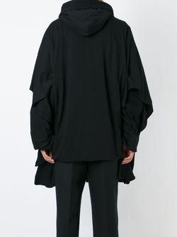 Пальто Мешковатого Кроя С Капюшоном Yohji Yamamoto                                                                                                              чёрный цвет