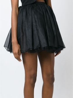 Пышная Мини-Юбка Olympia Le-Tan                                                                                                              черный цвет