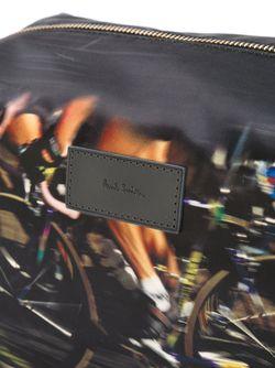 Cyclists Print Washbag Paul Smith                                                                                                              чёрный цвет