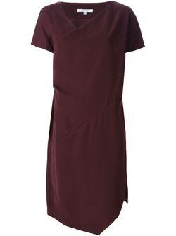 Платье Асимметричного Кроя Carven                                                                                                              красный цвет