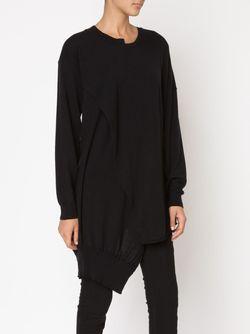 Crossover Oversized Sweater Barbara I Gongini                                                                                                              чёрный цвет