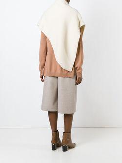 Асимметричная Шаль LEMAIRE                                                                                                              белый цвет