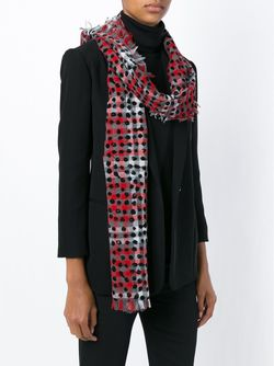 Checked Dotted Scarf Marc by Marc Jacobs                                                                                                              красный цвет
