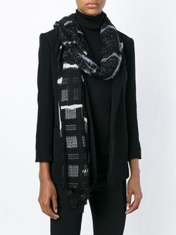 Checked Scarf Marc by Marc Jacobs                                                                                                              чёрный цвет